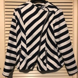 Venus jacket, navy/white stripes, Size XL